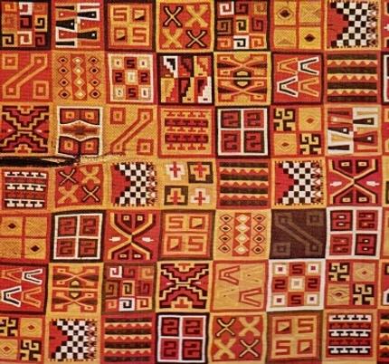 tessitura di figure geometriche su stoffa per abiti nel post ... - Decorazioni Su Stoffa